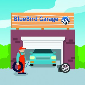 BlueBird WordPress Garage