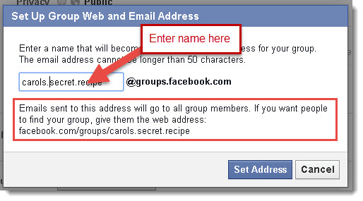 Set Up Group Email Address